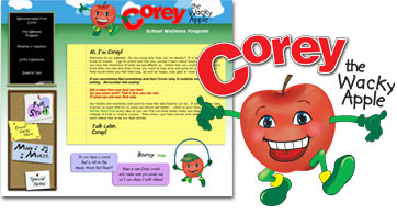 Corey the Wacky Apple